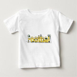 フットボールの緑および金ゴールド ベビーTシャツ