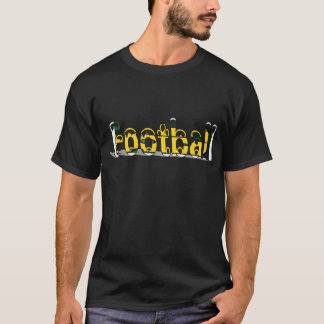 フットボールの緑および金ゴールド Tシャツ