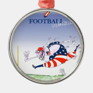 フットボールの蒸気ローラー、贅沢なfernandes メタルオーナメント