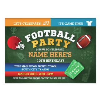 フットボールの誕生会の招待は招待状を遊ばします カード