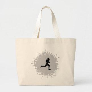 フットボールの走り書きのスタイル ラージトートバッグ