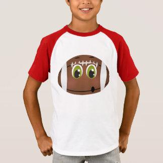 フットボールは接地の子供のゲーム日を遊ばします Tシャツ