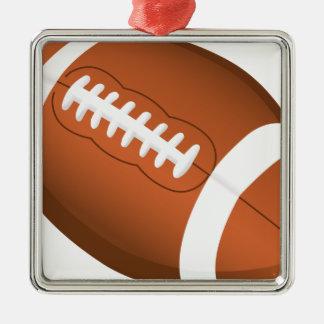 フットボールは教育のコーチのチームスポーツ分野を遊ばします メタルオーナメント