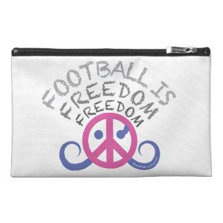 """フットボールは自由旅行accです。 バッグ(9x6"""" /fuchsia) トラベルアクセサリーバッグ"""