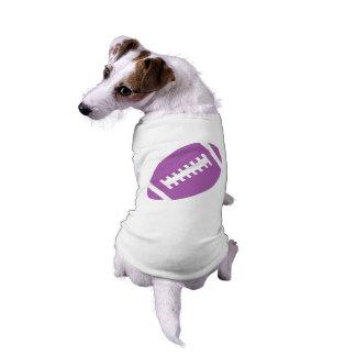 フットボールは|の写実的な紫色のフットボールのスポーツをかわいがります ペット服