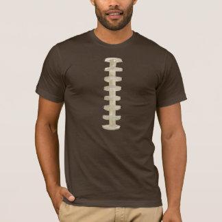 フットボールはTシャツブラウンをひもで締めます Tシャツ