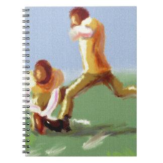 フットボールキッカー芸術 ノートブック