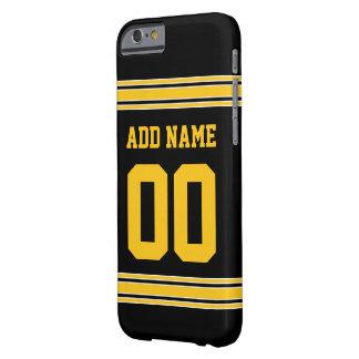 フットボールジャージー-あなたの情報とカスタマイズ BARELY THERE iPhone 6 ケース
