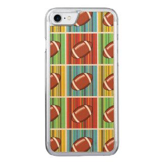 フットボールパターン CARVED iPhone 8/7 ケース