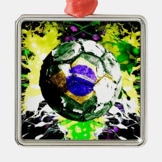 フットボールブラジル メタルオーナメント
