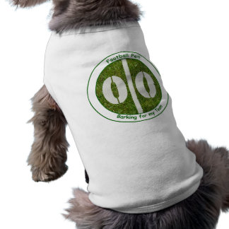 フットボール犬カスタマイズ可能なペットワイシャツ ペット服