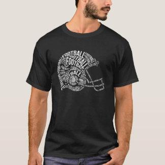 フットボール用ヘルメットのタイポグラフィ Tシャツ