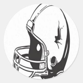 フットボール用ヘルメットのデザイン 丸型シール
