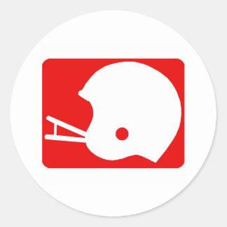 フットボール用ヘルメットのロゴ 丸形シールステッカー