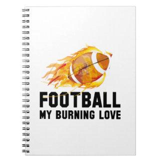 フットボール私の非常に熱い愛 ノートブック