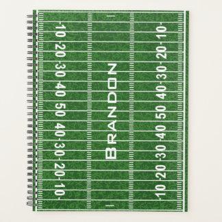 フットボール競技場のデザインの週間か月例プランナー プランナー手帳