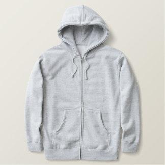 フットボール選手のチームジャージーのあなた自身のフード付きスウェットシャツを作成して下さい 刺繍入りジッパーフード付き
