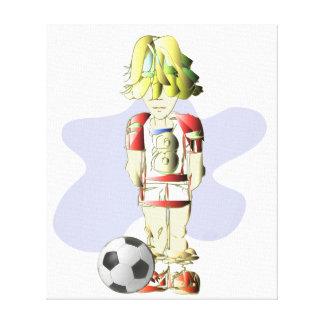 フットボール選手の芸術のキャンバスプリント キャンバスプリント