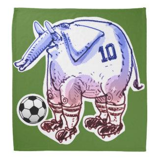 フットボール選手象の漫画のスタイル バンダナ