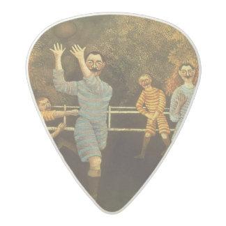 フットボール選手1908年(キャンバスの油) アセタール ギターピック