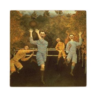 フットボール選手1908年(キャンバスの油) ウッドコースター