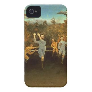 フットボール選手1908年(キャンバスの油) Case-Mate iPhone 4 ケース