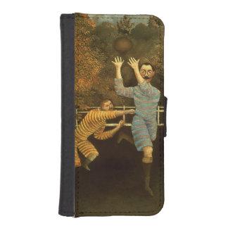 フットボール選手1908年(キャンバスの油) iPhoneSE/5/5sウォレットケース