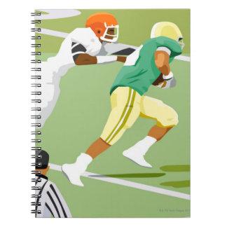 フットボール2を遊んでいる人 ノートブック