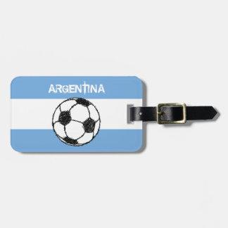 フットボール、アルゼンチン ラゲッジタグ