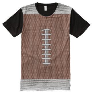 フットボール オールオーバープリントT シャツ