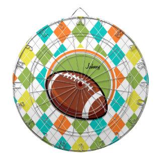 フットボール; カラフルでアーガイル柄のなパターン ダーツボード