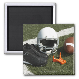 フットボール、フットボール用ヘルメット、ティーおよび靴 マグネット