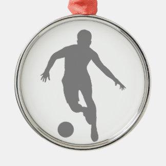 フットボール(灰色) メタルオーナメント