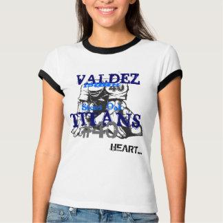 フットボール、石造りのカシ、タイタン、#40のハート…、VAL… Tシャツ
