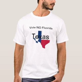フッ化物のTシャツ無しテキサス州 Tシャツ