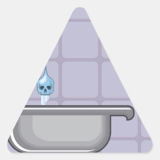 フッ化物水毒 三角形シール