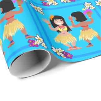 フラのダンサーのギフトの包装紙 ラッピングペーパー