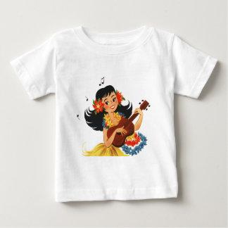 フラのフラ女の子 ベビーTシャツ