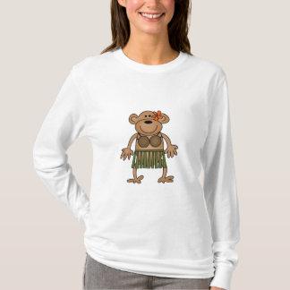 フラの踊り猿のTシャツおよびギフト Tシャツ