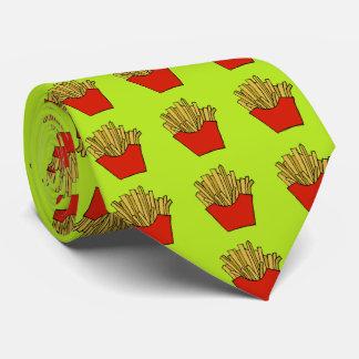 フライドポテトのデザインのタイ ネクタイ