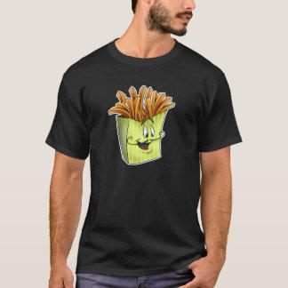 フライドポテトの人の漫画のワイシャツ Tシャツ