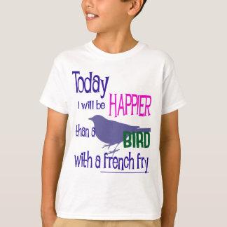 フライドポテトを持つ鳥 Tシャツ
