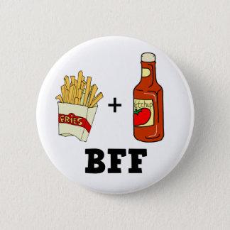 フライドポテト及びケチャップBFF 缶バッジ