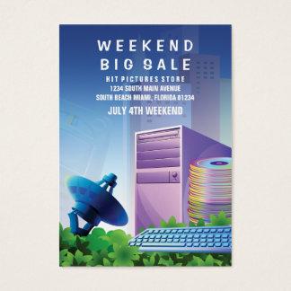 フライヤの誇大宣伝の技術の販売の販売の垂直 名刺