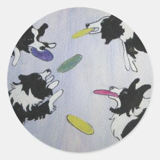 フライングディスク犬 ラウンドシール