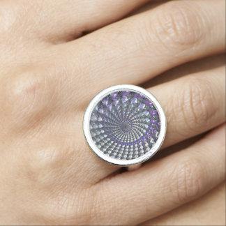 フラクタルによって設計されている銀によってめっきされるリングや輪 リング