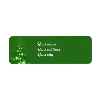 フラクタルのクリスマスツリー ラベル