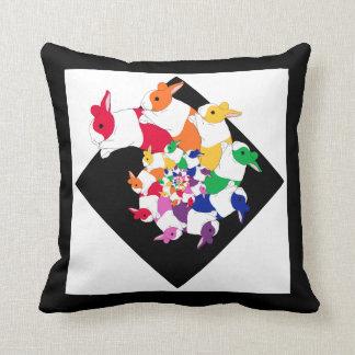 フラクタルのバニーの正方形の枕 クッション