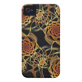 フラクタルのバラ、穹窖のブラックベリーのはっきりしたな箱 Case-Mate iPhone 4 ケース