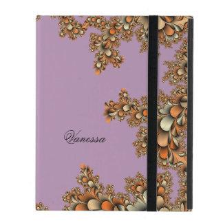フラクタルのモダンなモノグラムの紫色のiPad 2/3/4の箱 iPad ケース